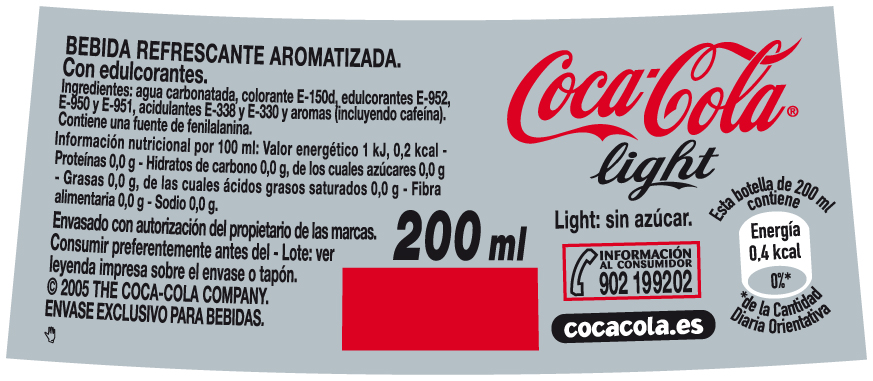 COCACOLA LIGTH-CE 72,6X40mm