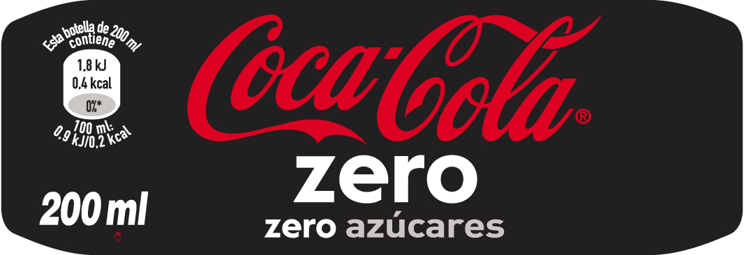 COCACOLA ZERO 200ML-E CARA 90X31mm