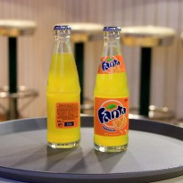 Label for orange fanta