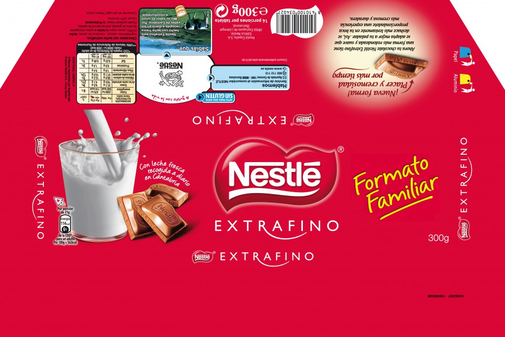 CHOCOLATE EXTRAFINO 300G 360X241mm