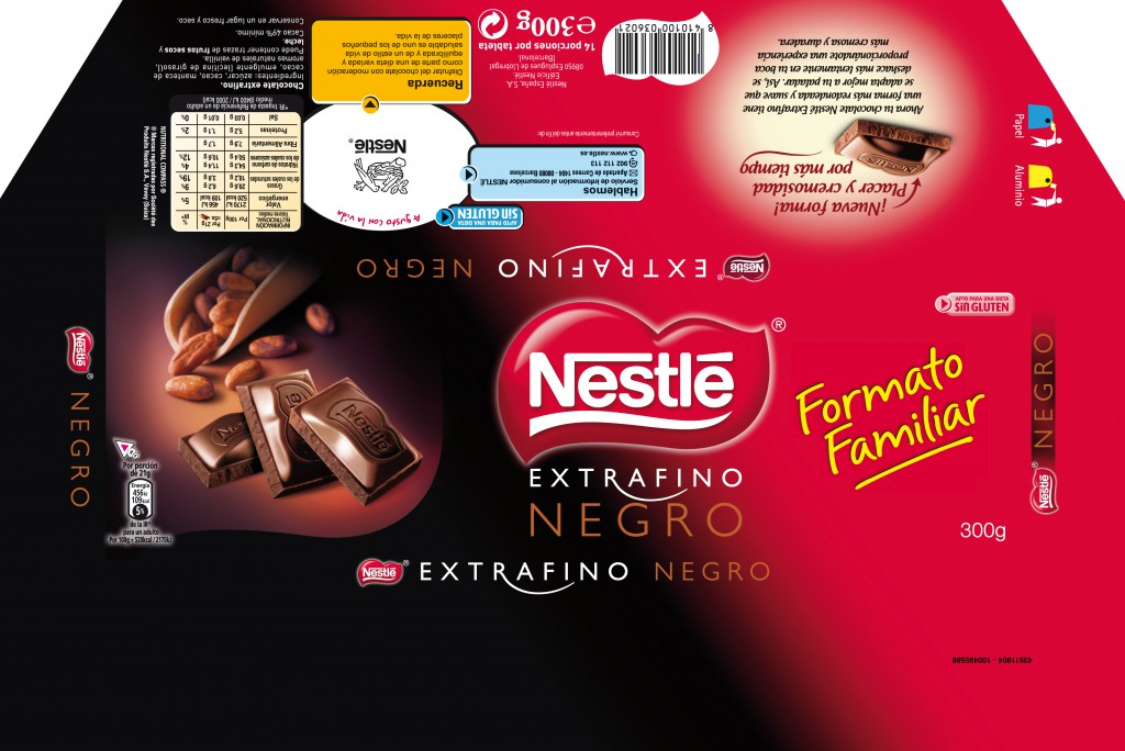 CHOCOLATE NEGRO 300G 360X241mm