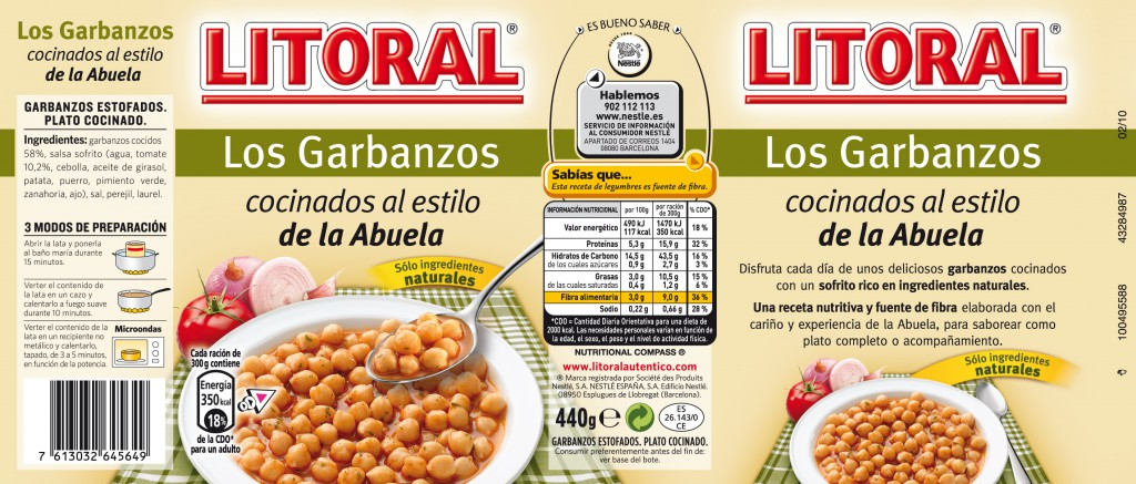 LITORAL GARBANZOS 440G 239X102mm